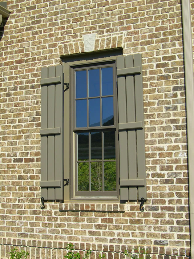 Board And Batten Shutters   Window Mold Mount